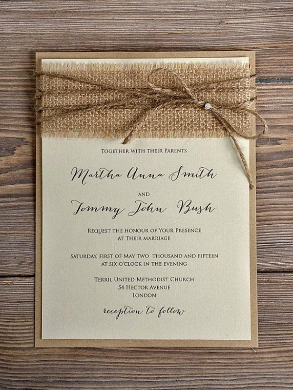 Country Wedding Invitation Ideas Elegant top 15 Popular Rustic Wedding Invitaitons Idea Samples On