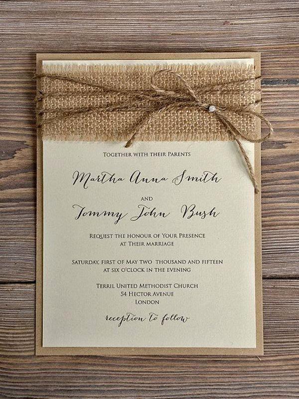 Country Wedding Invitation Ideas Elegant top 15 Popular Rustic Wedding Invitaitons Idea Samples On
