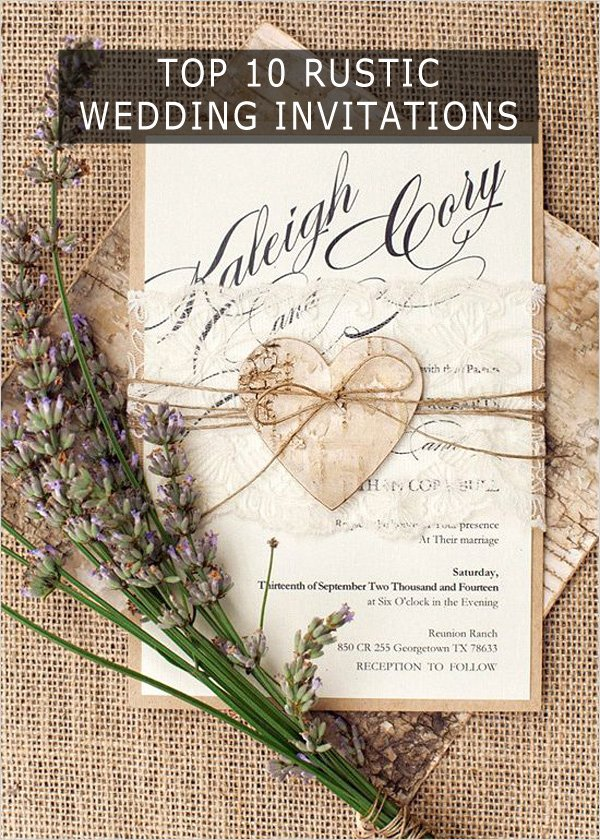 Country Wedding Invitation Ideas Luxury top 10 Rustic Wedding Invitations to Wow Your Guests