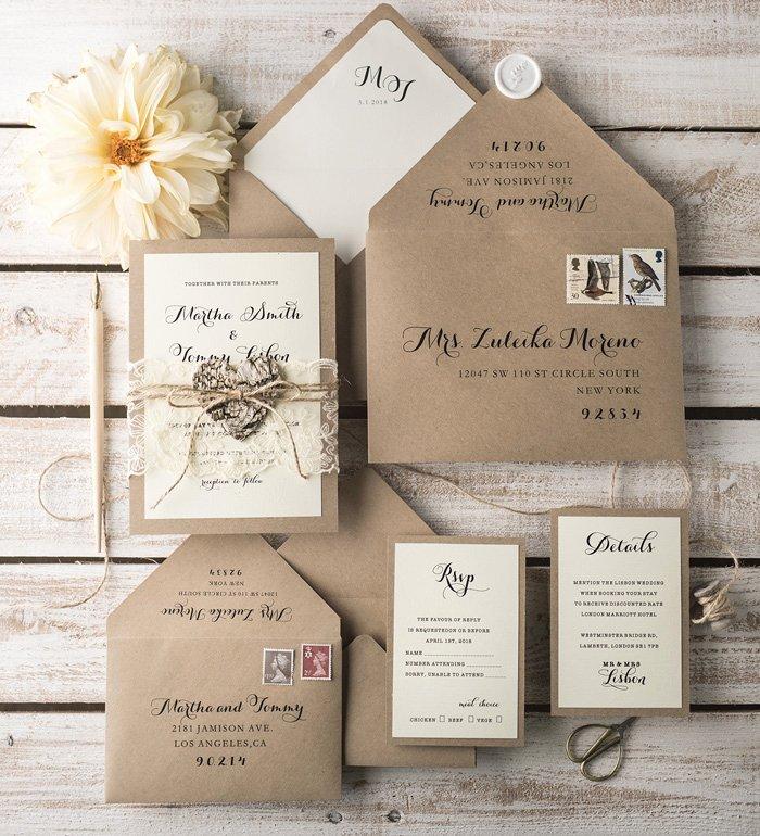 Country Wedding Invitation Ideas Unique Our Favourite Rustic Wedding Invitation Ideas