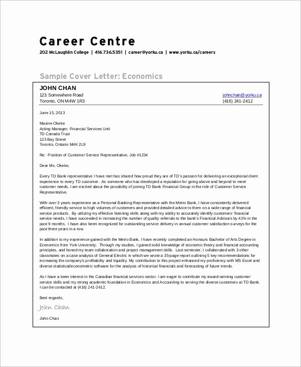Cover Letter Customer Service Best Of Sample Customer Service Cover Letter 8 Examples In Word