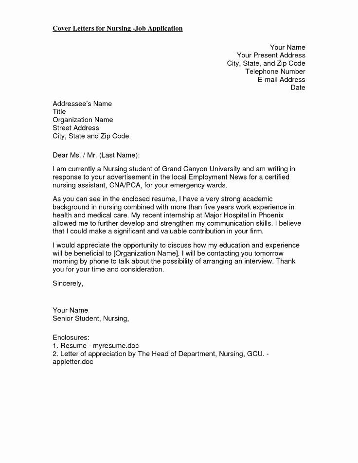 Cover Letter Examples for Nurses Awesome 17 Best Ideas About Nursing Cover Letter On Pinterest