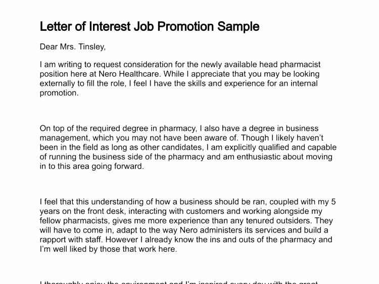 Cover Letter Examples for Promotion Best Of Resume for Internal Promotion Template – Wikirian