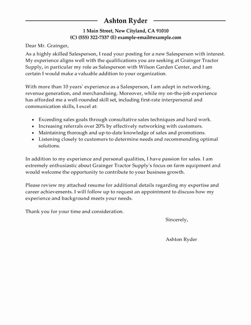 Cover Letter Examples Retail Elegant Outstanding Retail Cover Letter Examples & Templates From