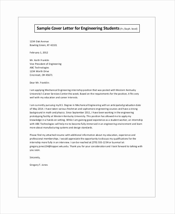 Cover Letter Examples Student Beautiful Biotech Cover Letter