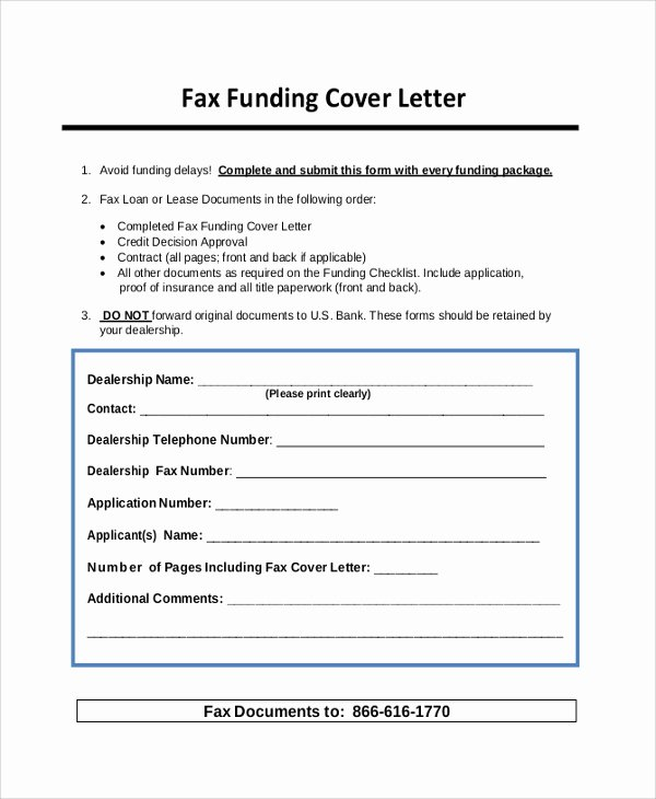 Cover Letter for A Fax Fresh Sample Cover Letter 22 Documents In Pdf Word