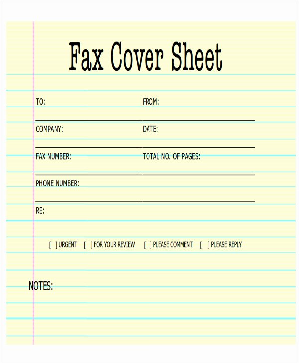 Cover Letter for A Fax Fresh Sample Fax Cover Letter In Pdf 8 Examples In Pdf