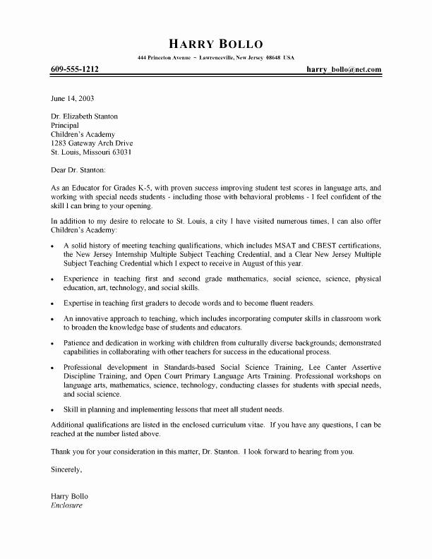 Cover Letter for A Teacher New 13 Best Teacher Cover Letters Images On Pinterest