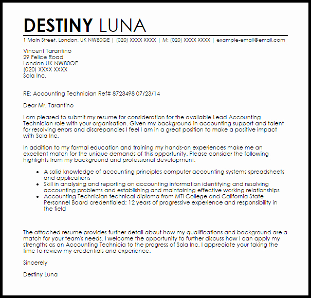 Cover Letter for Accountant Awesome Cover Letter Accountant Examples Accountant Cover