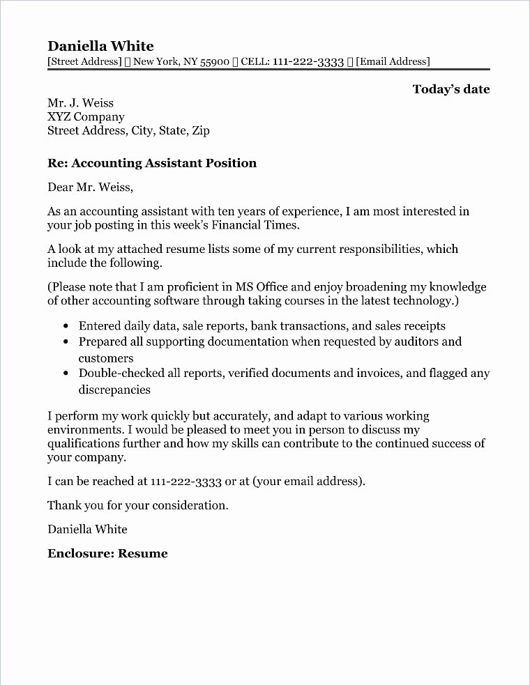 Cover Letter for Accounting Position Awesome Accounts Payable Cover Letter Sample