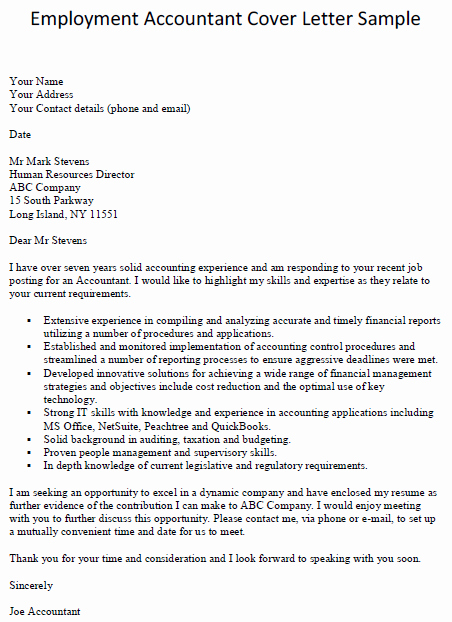 Cover Letter for Accounting Position Fresh Accounting Cover Letter Slim Image