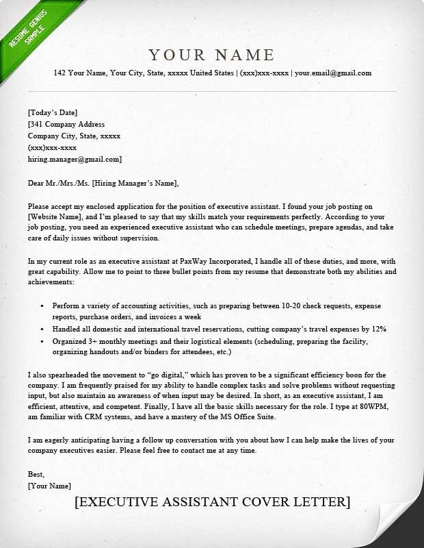 Cover Letter for assistant Best Of Administrative assistant & Executive assistant Cover