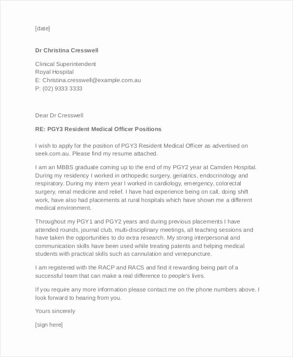 Cover Letter for Doctors Lovely Job Application Letter In Hospital