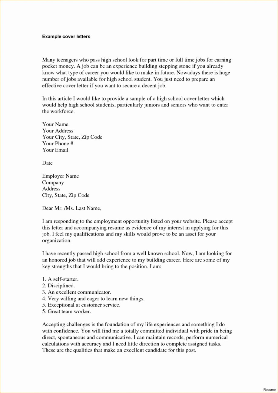 Cover Letter for First Job Best Of Writing Application Letter to A School Filename formal