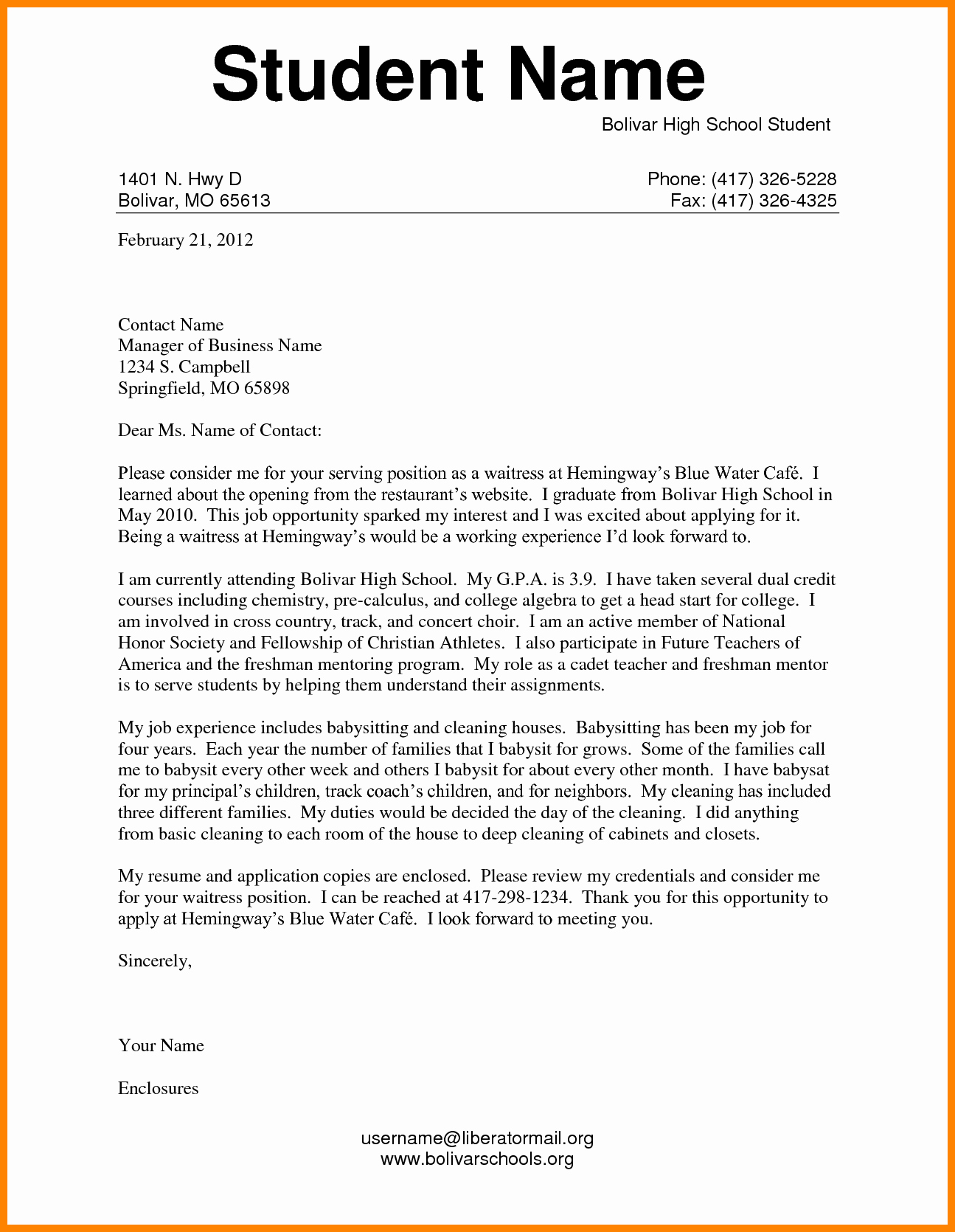 Cover Letter for First Job Fresh Example Of Application Letter for Students Cover Letter