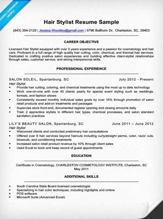 Cover Letter for Hairstylist Awesome Hair Stylist Resume Sample & Expert Writing Tips