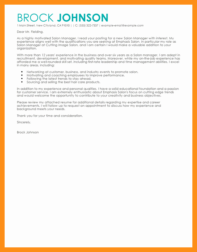 Cover Letter for Hairstylist Fresh 12 13 Cover Letter Examples for Hairstylist