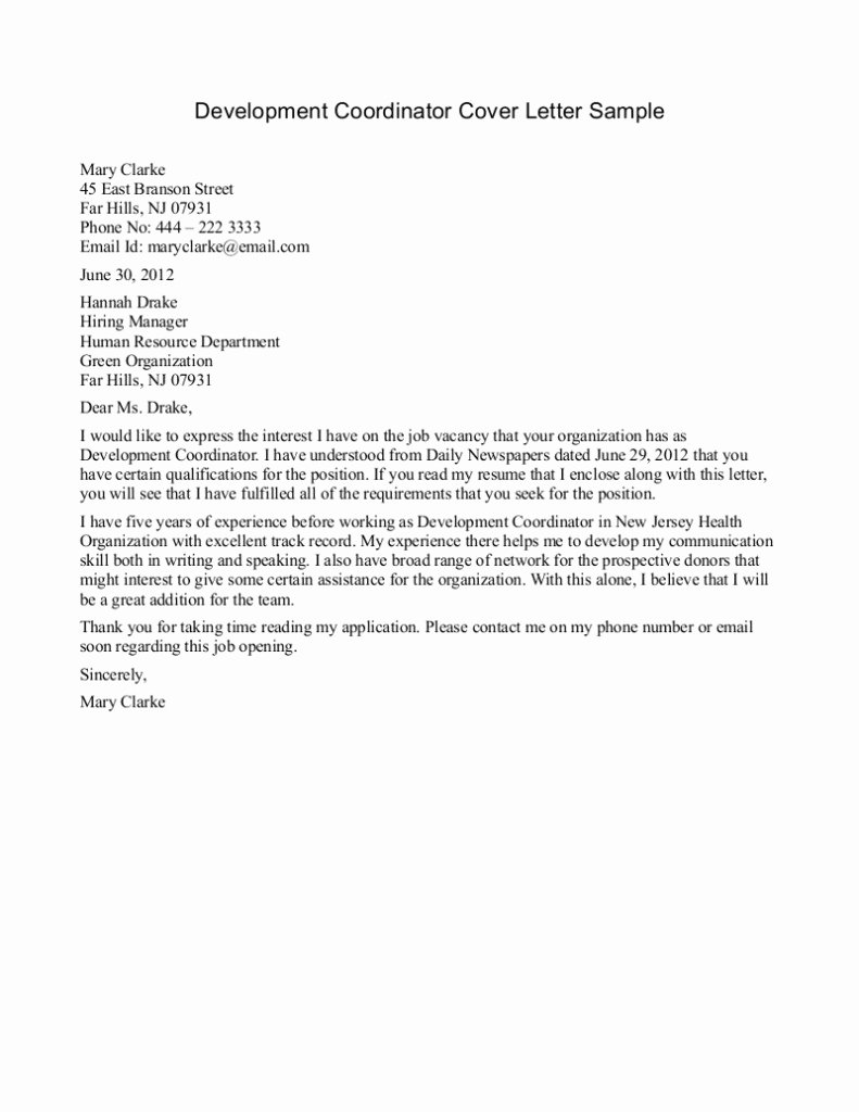 Cover Letter for Internship Examples New Internship Cover Letter