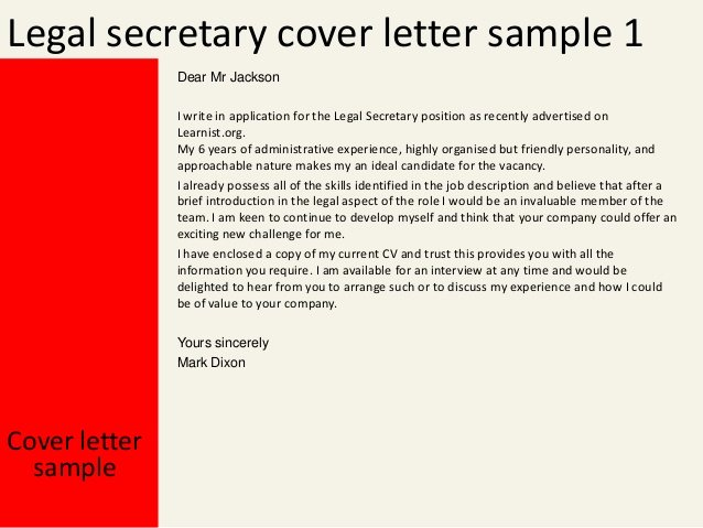 Cover Letter for Legal Job Unique Legal Secretary Cover Letter