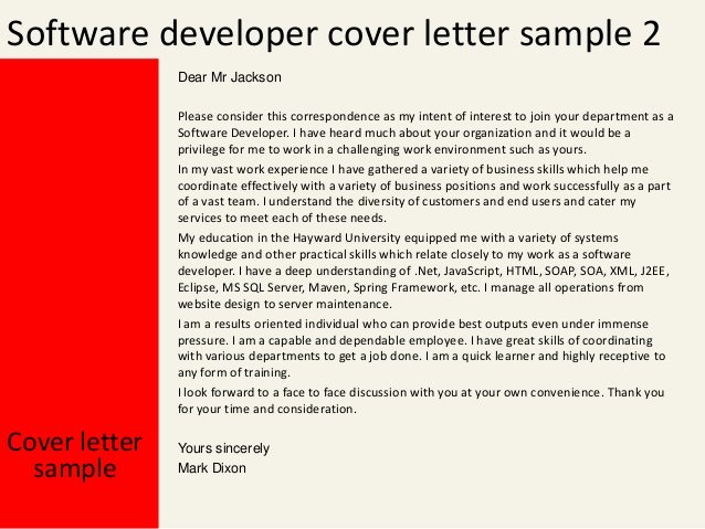 Cover Letter for Net Developer Best Of software Developer Cover Letter