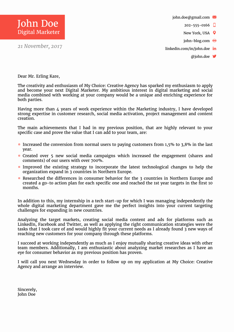 Cover Letter for New Career Lovely 8 Cover Letter Templates for 2019 [that Hr Will Love ]
