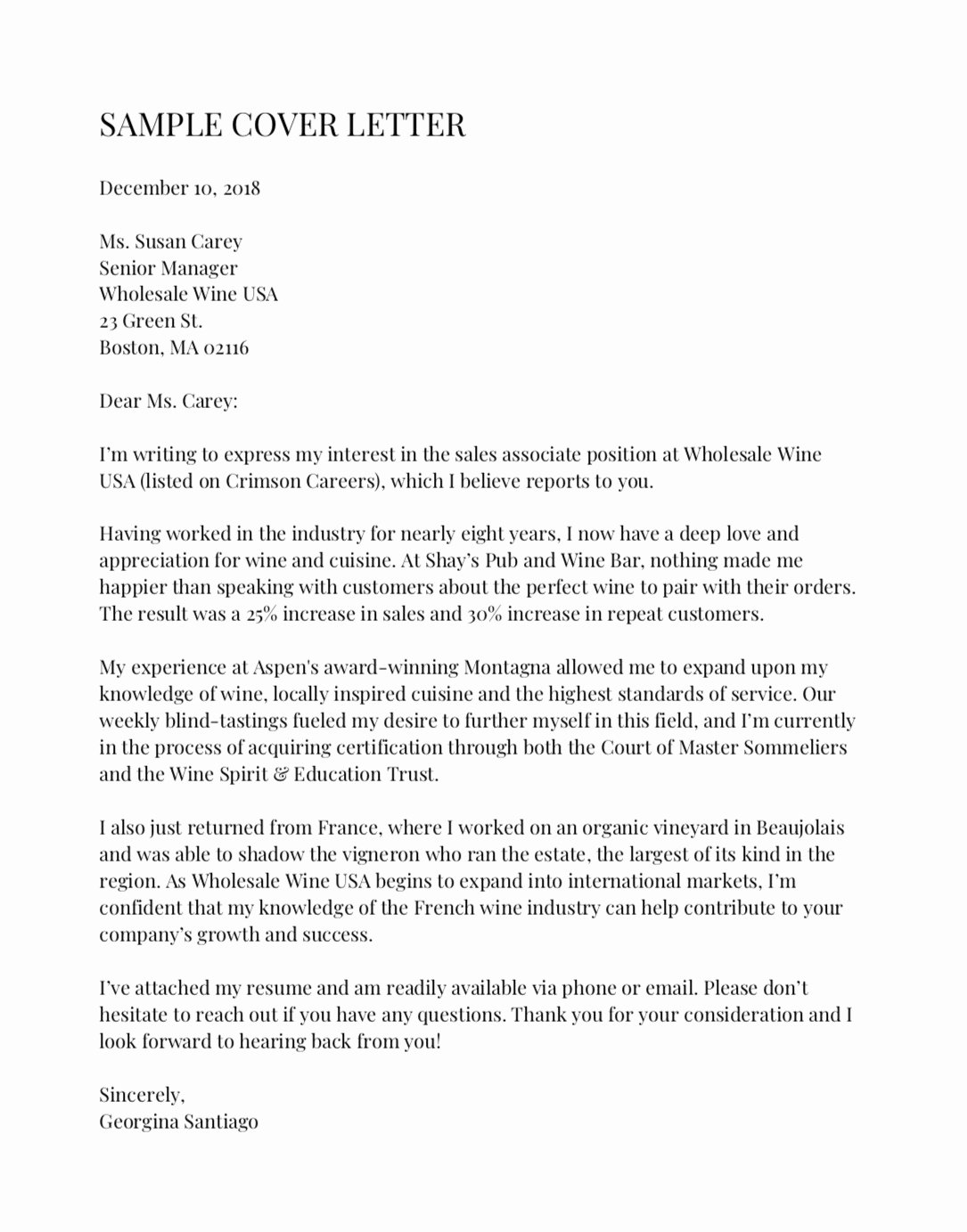 Cover Letter for New Career Lovely Here S An Example Of the Perfect Cover Letter According