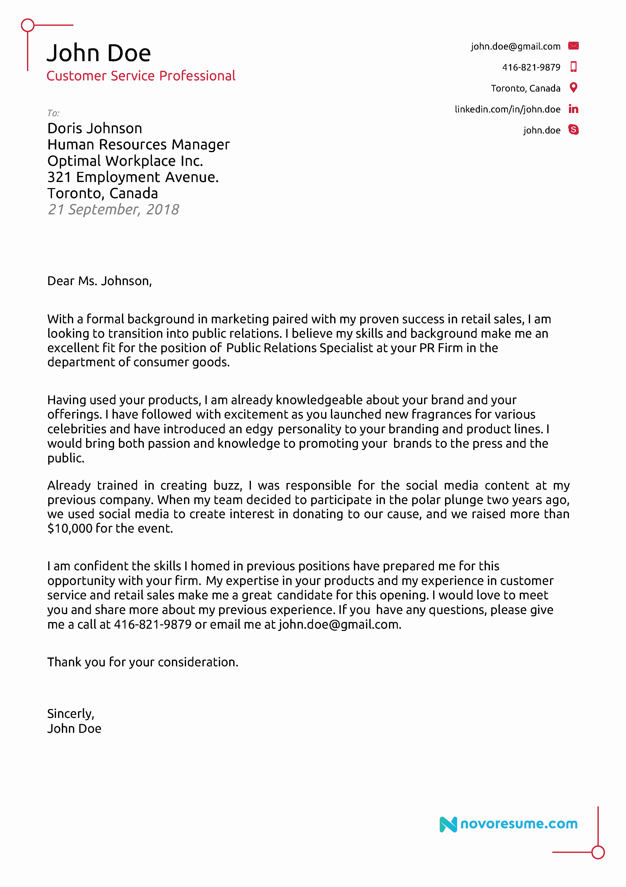 Cover Letter for New Career Luxury 2018 Cover Letter Examples [ Writing Tips]