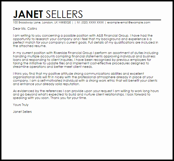 Cover Letter for New Career Unique for A New Job Cover Letter Sample