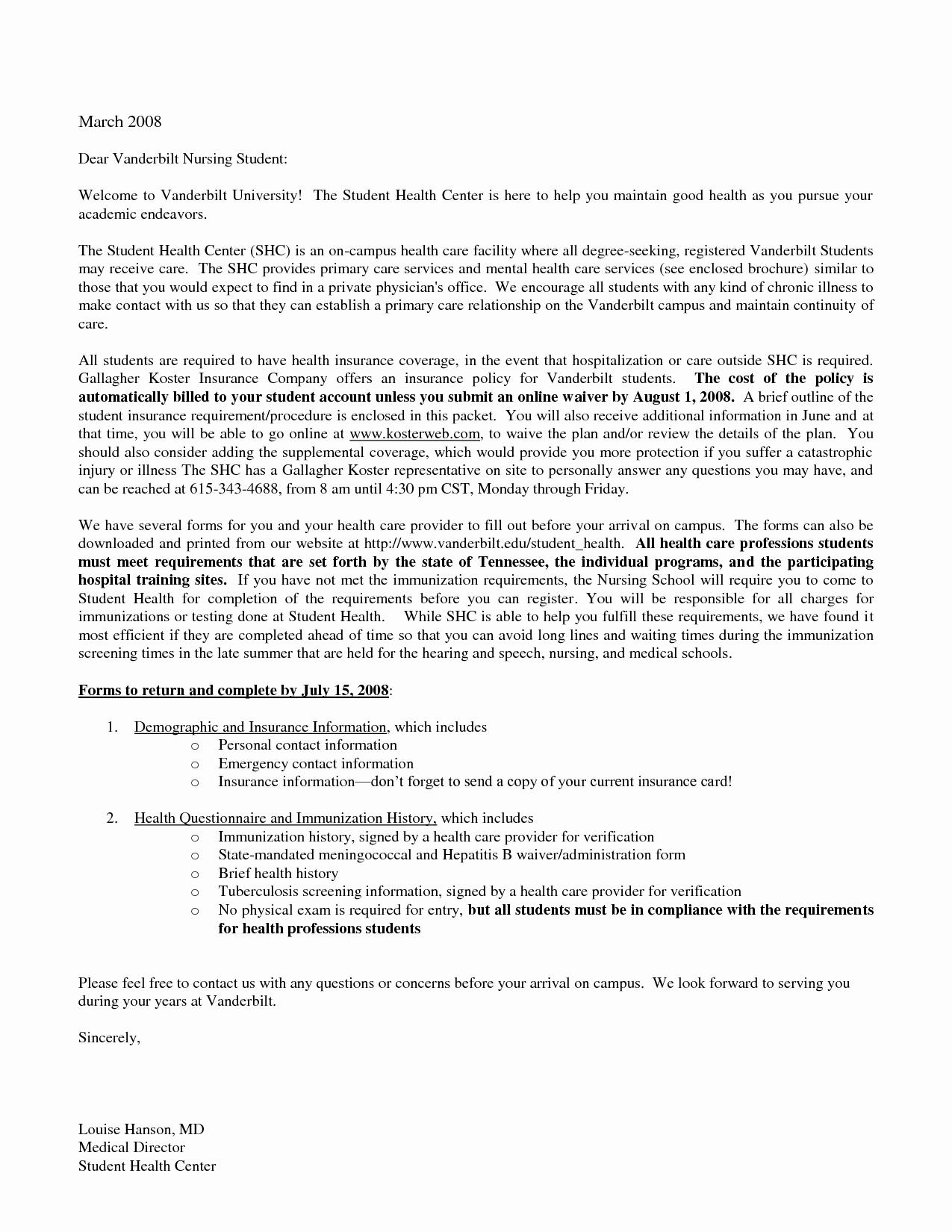 Cover Letter for Nursing Student Elegant 14 15 Nursing Resume Cover Letters Examples
