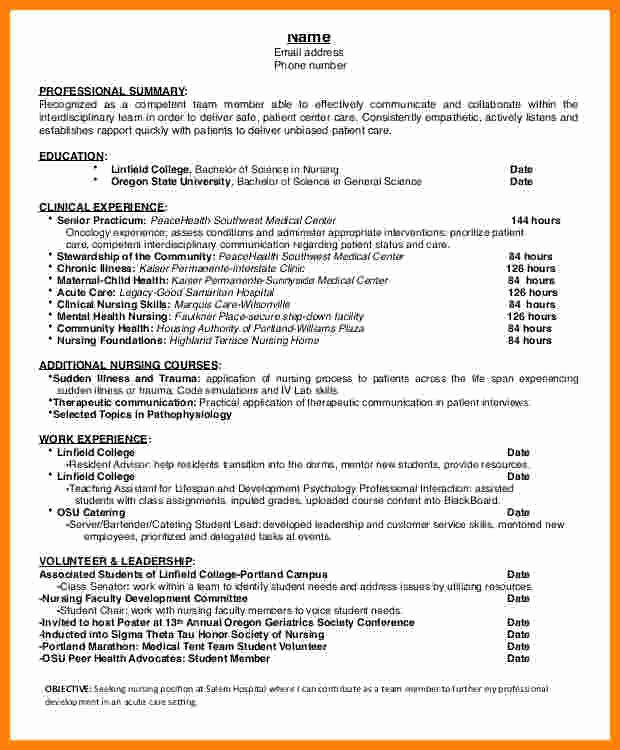 Cover Letter for Nursing Student Luxury 9 Cv Nursing Student