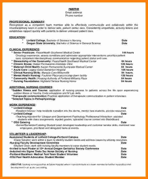 Cover Letter for Nursing Student Luxury 9 Cv Nursing Student