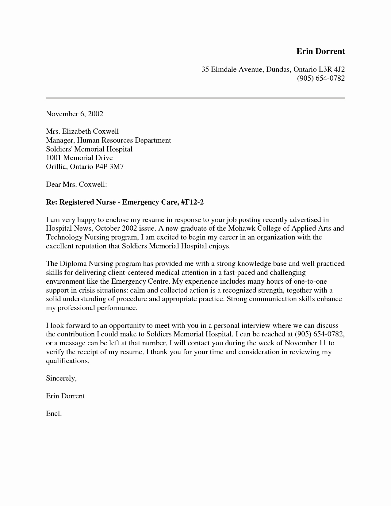 Cover Letter for Nursing Student New New Grad Nursing Cover Letter Google Search