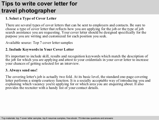 Cover Letter for Photographer Best Of Travel Photographer Cover Letter