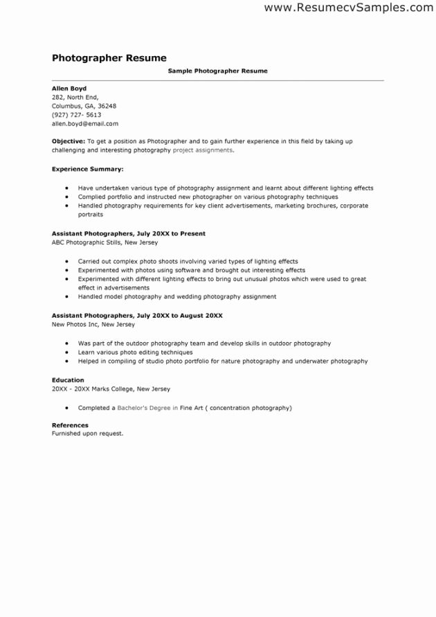 Cover Letter for Photography Job Best Of Grapher Cover Letter Examples