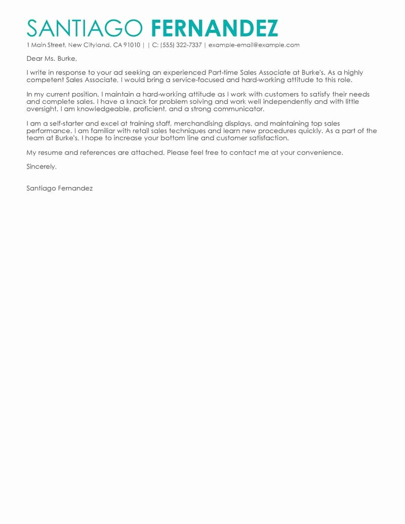 Cover Letter for Retail Job Best Of Outstanding Retail Cover Letter Examples & Templates From