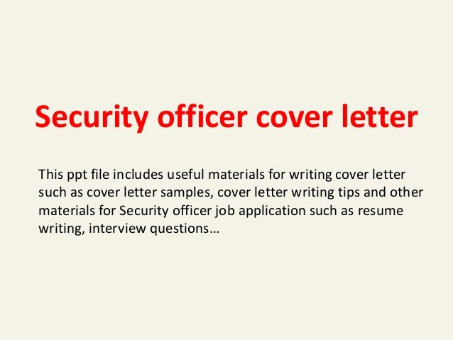 Cover Letter for Security Job Elegant Security Officer Cover Letter