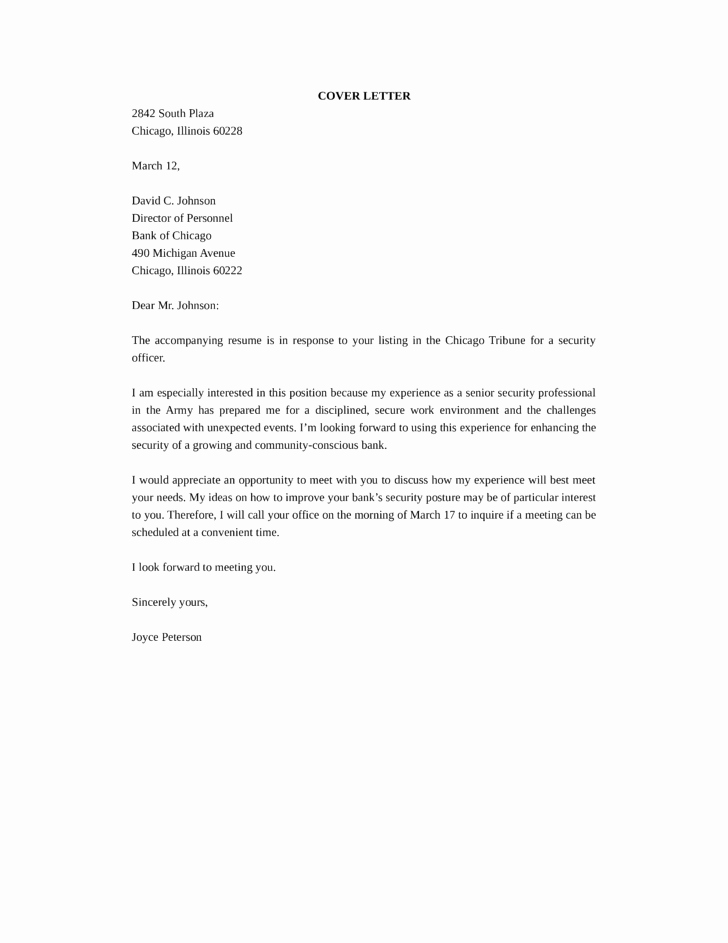 Cover Letter for Security Position Awesome Senior Security Ficer Cover Letter Samples and Templates