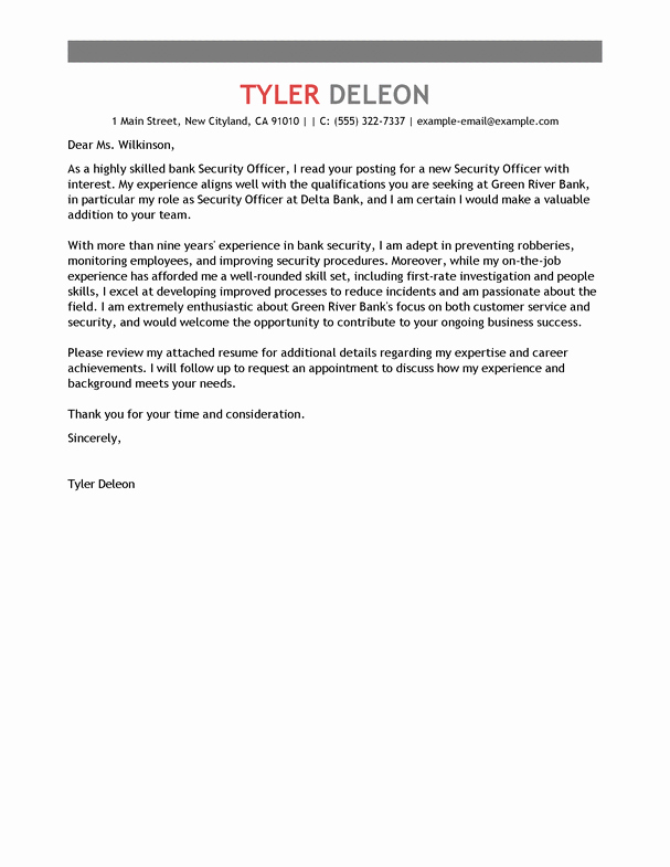 Cover Letter for Security Position Beautiful Cover Letter for Entry Level Security Guard associated