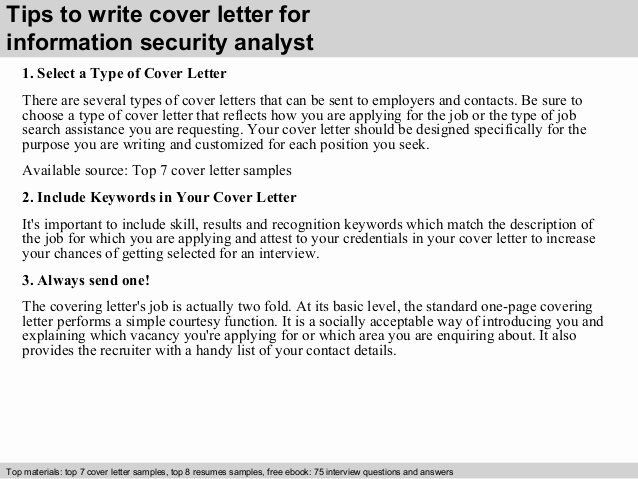 Cover Letter for Security Position Beautiful Information Security Analyst Cover Letter