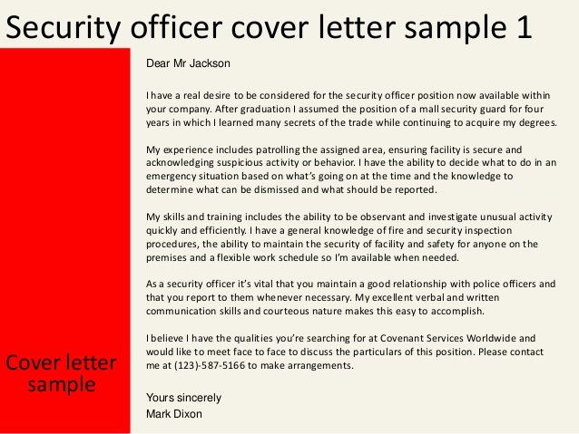 Cover Letter for Security Position Beautiful Security Officer Cover Letter