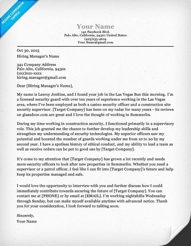 Cover Letter for Security Position Best Of Security Guard Cover Letter Sample & Tips