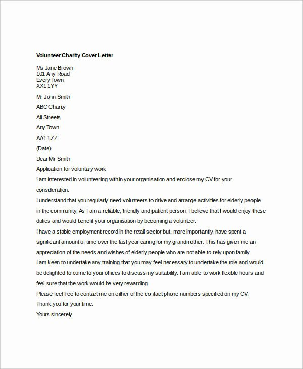 Cover Letter for Volunteer Position Beautiful 36 Cover Letter Template In Word