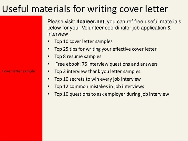 Cover Letter for Volunteer Position Inspirational Volunteer Coordinator Cover Letter