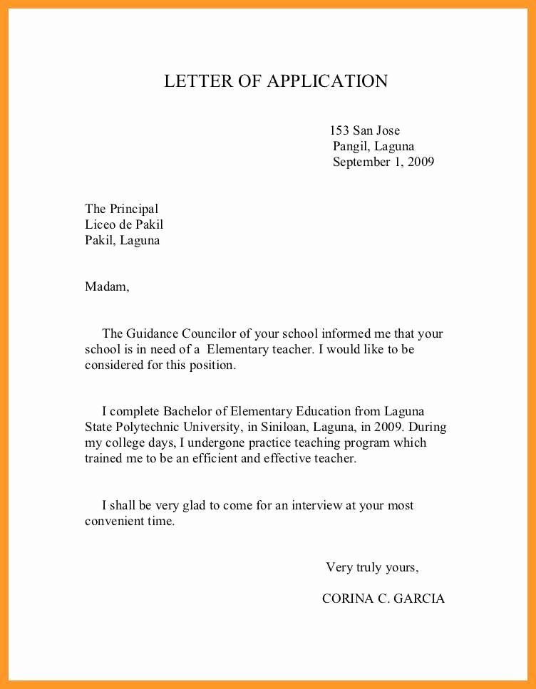 Cover Letter format for Teachers Fresh 12 13 Sample Cover Letters for Teacher Positions