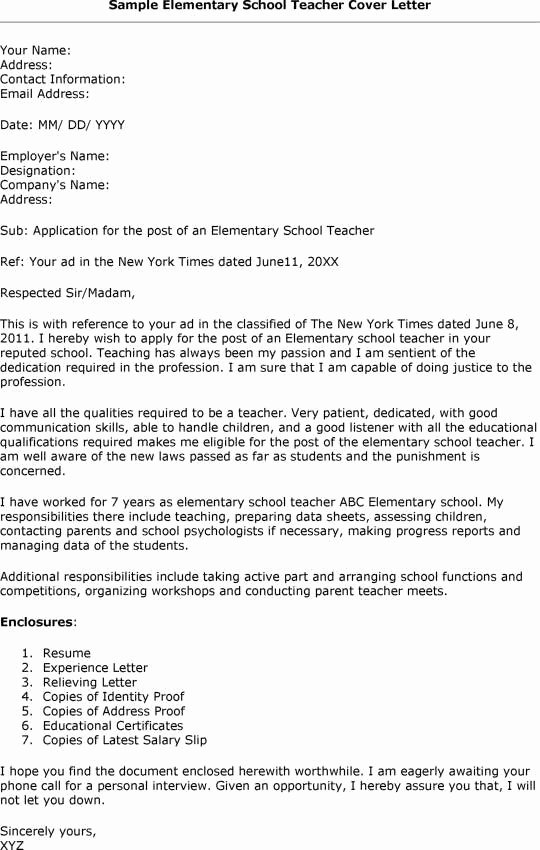 Cover Letter format for Teachers Luxury 13 Best Teacher Cover Letters Images On Pinterest