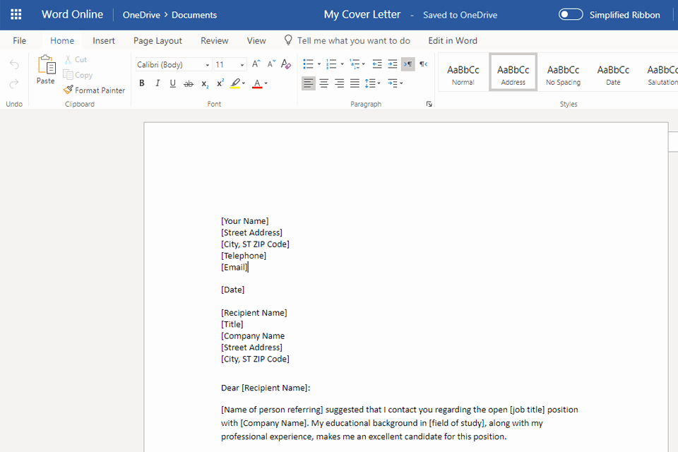 Cover Letter format Word Beautiful Free Cover Letter Templates for Microsoft Word