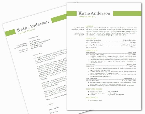 Cover Letter format Word Elegant Modern Microsoft Word Resume and Cover Letter Template by