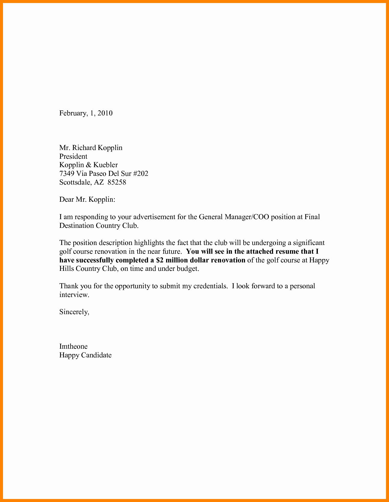 Cover Letter Free Samples Elegant 12 Cv Letter Sample Pdf