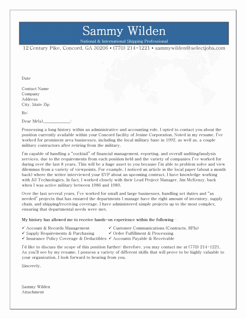 Cover Letter Free Samples Fresh Cover Letter format Creating An Executive Cover Letter
