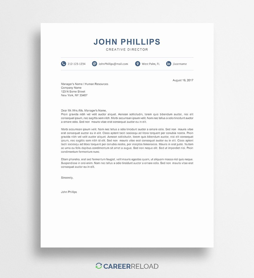 Cover Letter In Word Best Of Free Cover Letter Templates for Microsoft Word Free Download